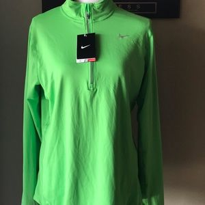 Womens' Nike Green 1/4 Zip Pullover NWT